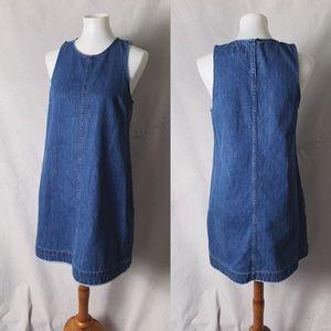 J. CREW Denim Shift Dress in Juniper Wash Size 6